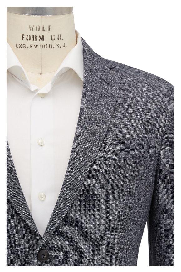 Fradi Gray & Navy Melange Cotton & Linen Jacket