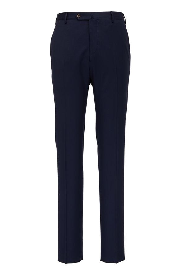 PT Torino Navy Fleece Wool Slim Fit Pant