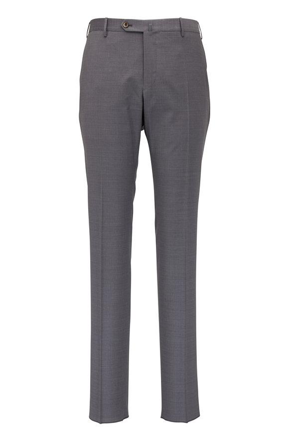 PT Torino Grey Fleece Wool Slim Fit Pant