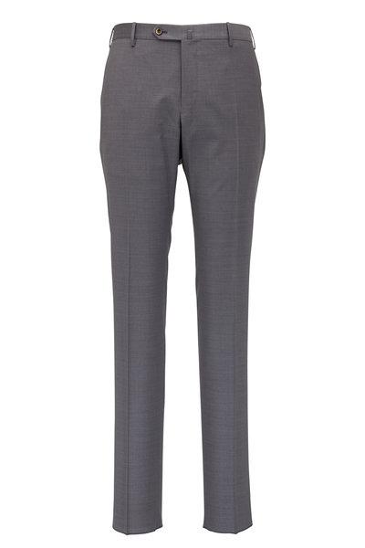PT Torino - Grey Fleece Wool Slim Fit Pant