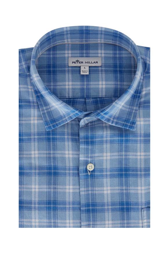Peter Millar Windsail Blue Plaid Sport Shirt