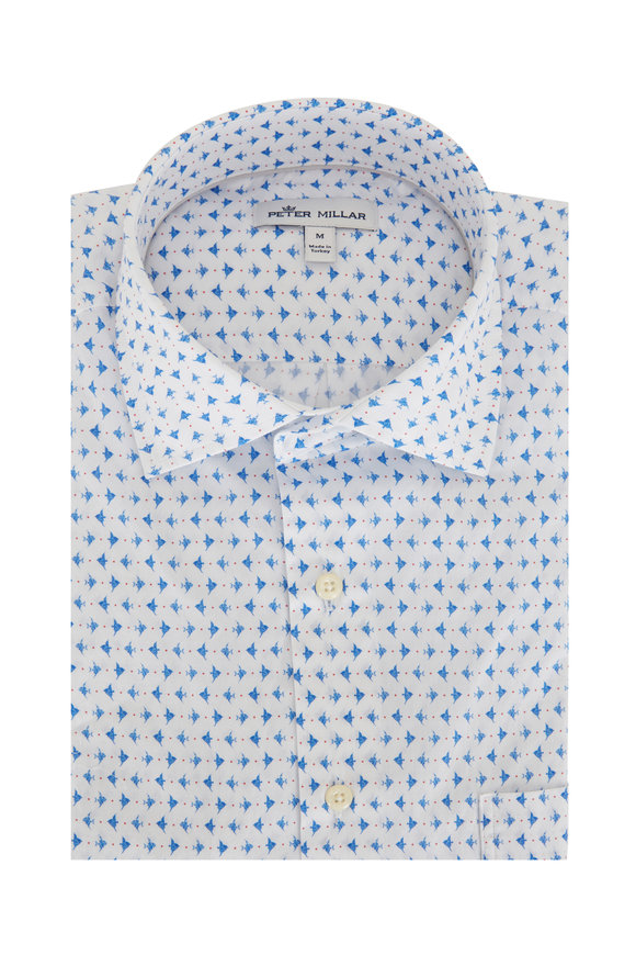 Peter Millar Catch Of The Day Short Sleeve Pocket Sport Shirt