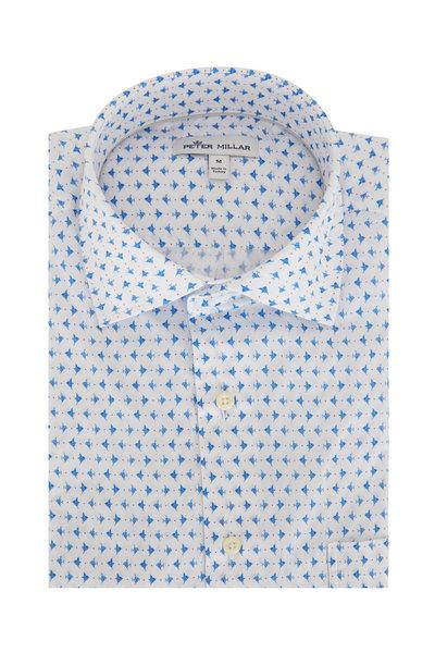 Peter Millar - Catch Of The Day Short Sleeve Pocket Sport Shirt