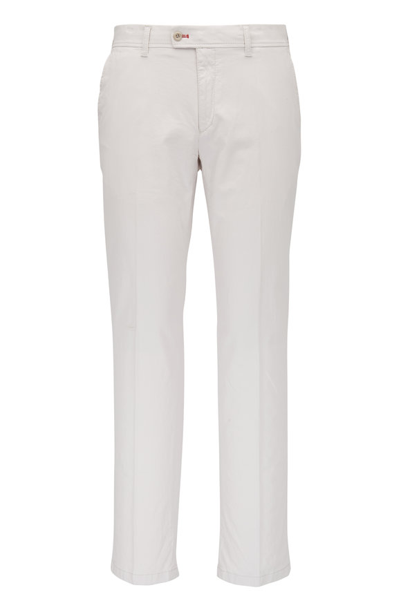 Brax Sand Brushed Cotton Flat Front Pant