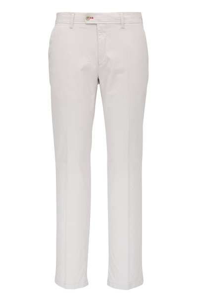 Brax - Sand Brushed Cotton Flat Front Pant