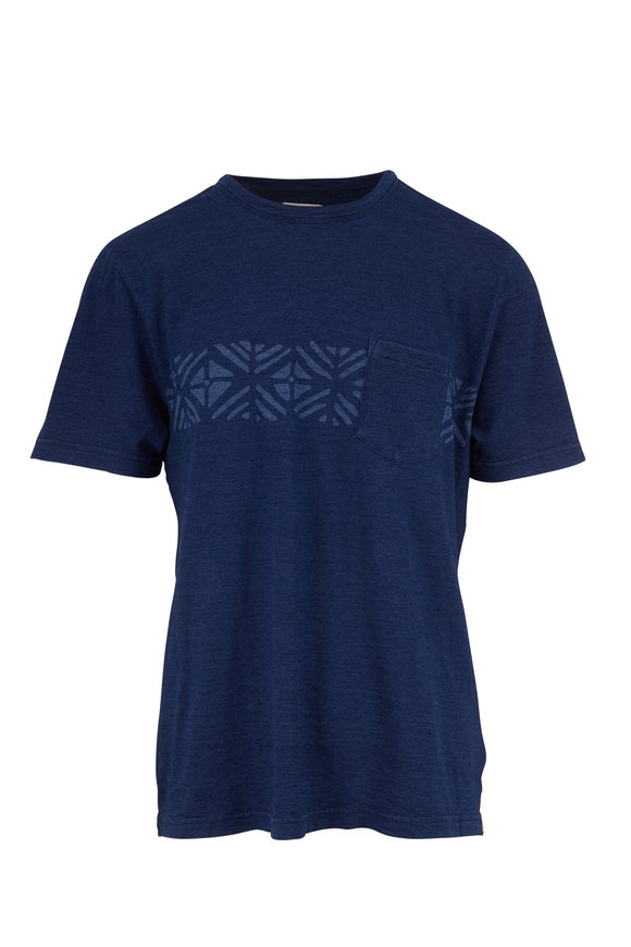 Faherty Brand Sandy Cay Dark Indigo Wash T-Shirt