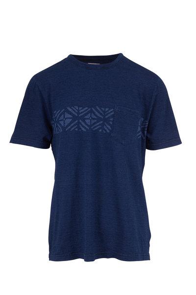 Faherty Brand - Sandy Cay Dark Indigo Wash T-Shirt