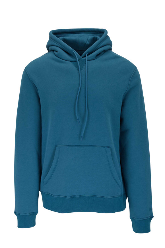 Swet Tailor Solid Aqua Drawstring Hoodie