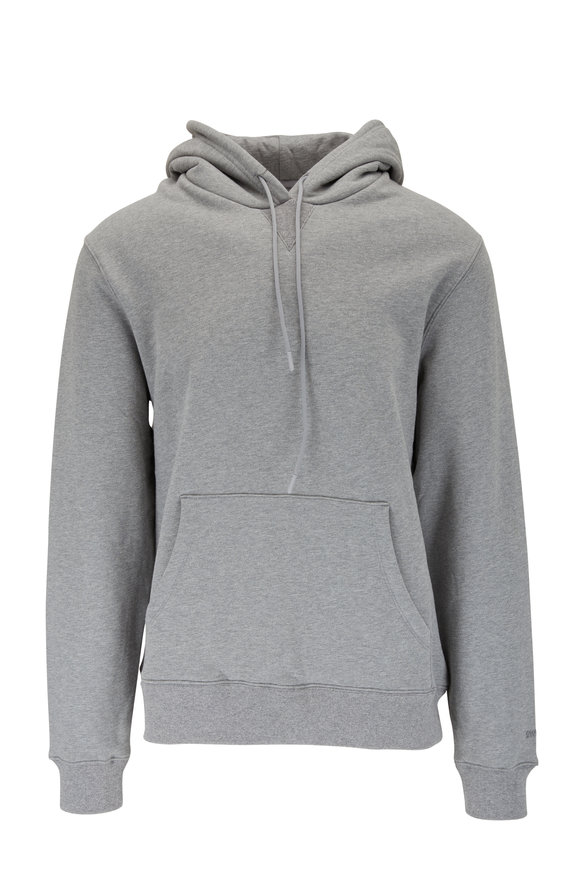 Swet Tailor Solid Gray Drawstring Hoodie