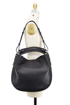 Givenchy - Obsedia Zanzi Black Leather Large Hobo Bag