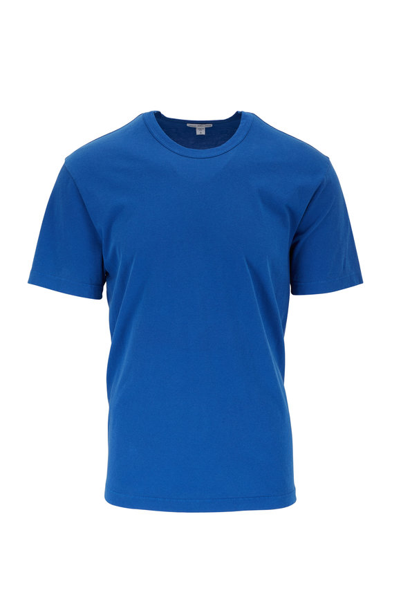 James Perse True Blue Cotton Crewneck T-Shirt
