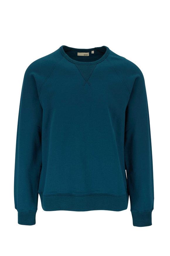 Swet Tailor Aqua Raglan Crewneck Sweatshirt