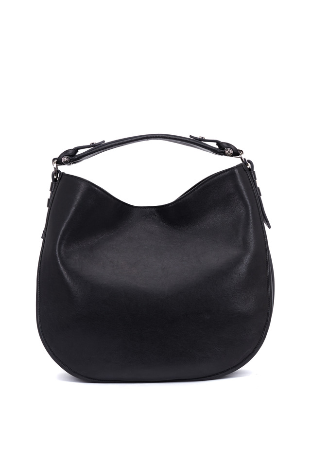 Obsedia Zanzi Black Leather Large Hobo Bag