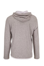 Vince - Gray Cotton Double-Layer Hoodie