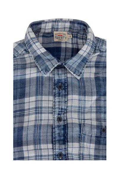 Faherty Brand - Seaview Nautilus Blue Plaid Sport Shirt