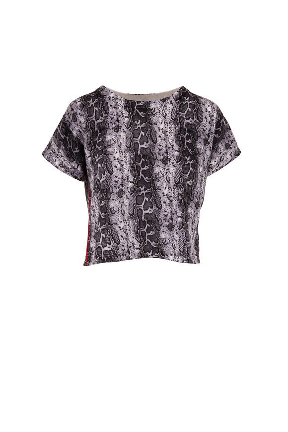 Raffi  Black & White Snake Print Top