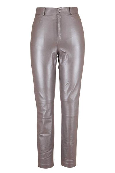 Zeynep Arcay - Silver Leather Five Pocket Legging