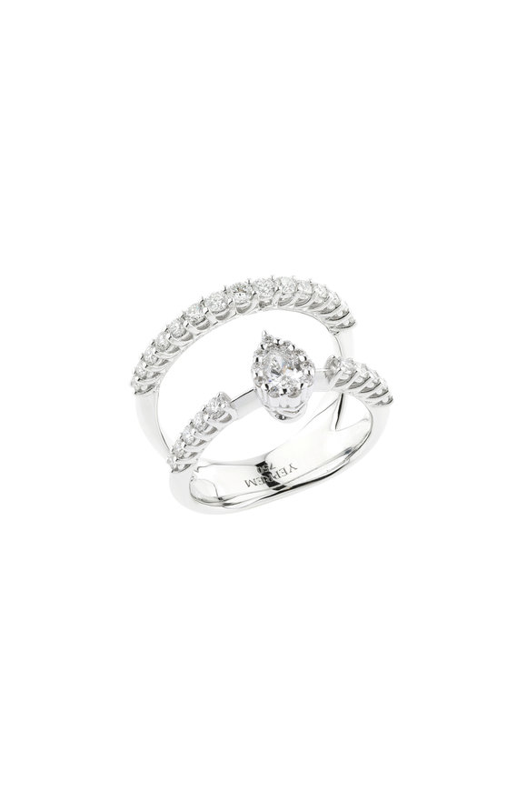 Yeprem 18K White Gold Diamond Cage Ring