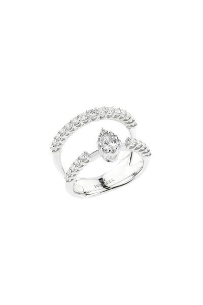 Yeprem - 18K White Gold Diamond Cage Ring