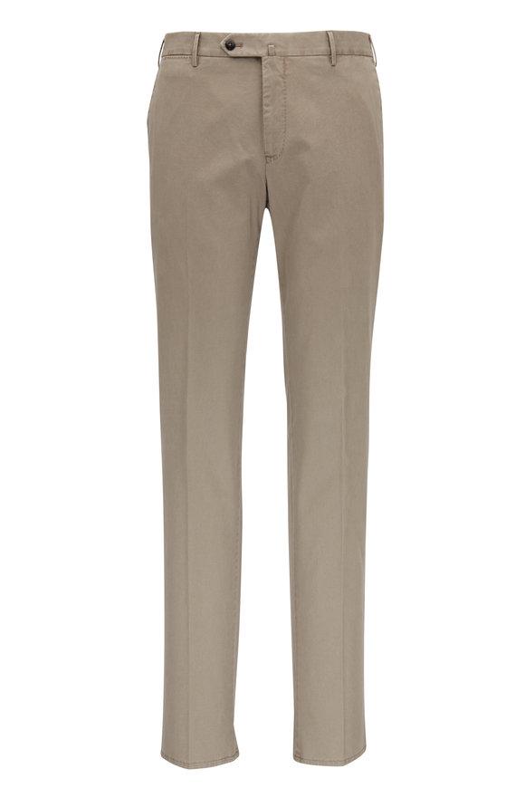 PT Torino Tan Cotton Stretch Slim Fit Pant