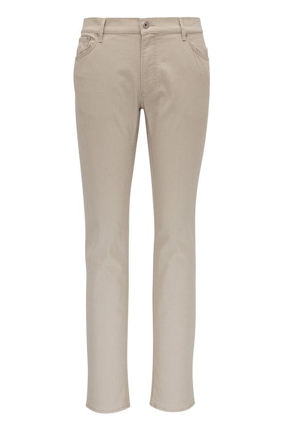 Brax Chuck Beige Hi-Flex Modern Fit Five Pocket Pant