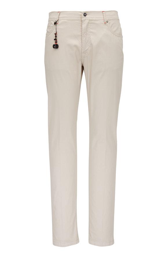 Marco Pescarolo Stone Cotton & Silk Five Pocket Pant