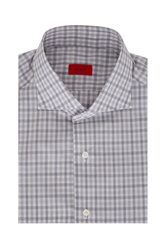 Isaia Grey Check Sport Shirt