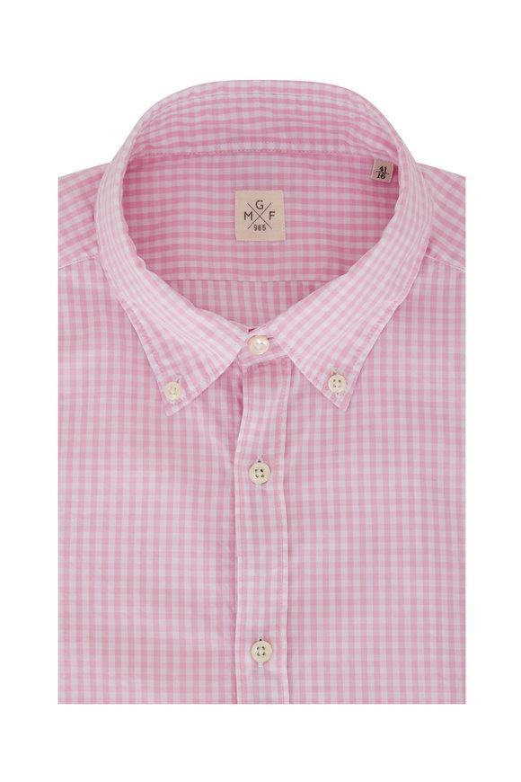 GMF Pink Gingham Sport Shirt