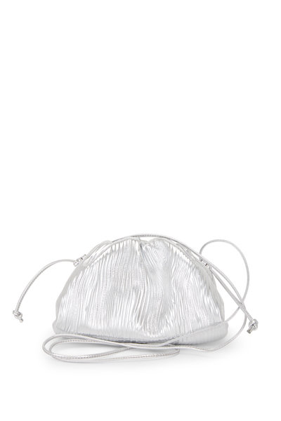 Bottega Veneta - The Pouch Silver Leather Bark Small Bag