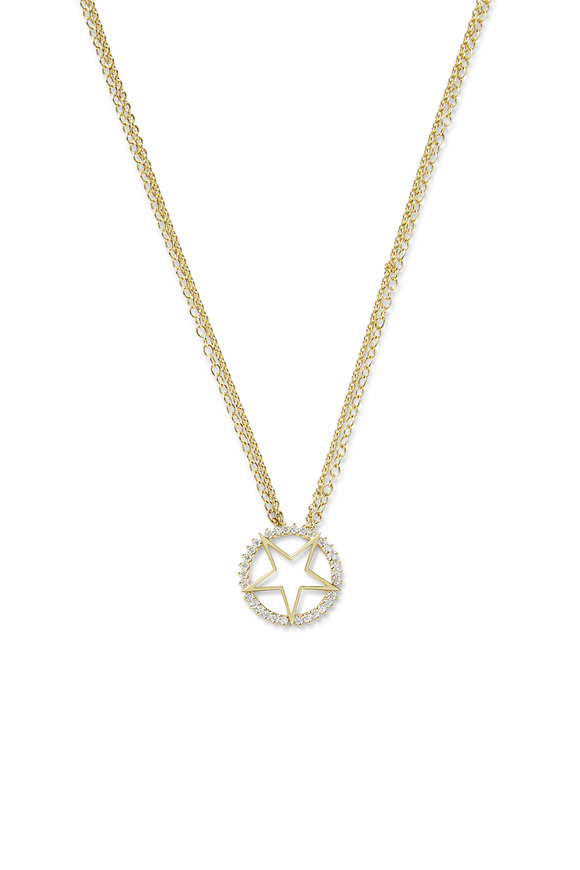 Nouvel Heritage 18K Yellow Gold Mystic Large Star Necklace