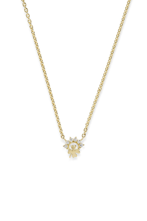 Nouvel Heritage 18K Yellow Gold Mystic Luck Necklace