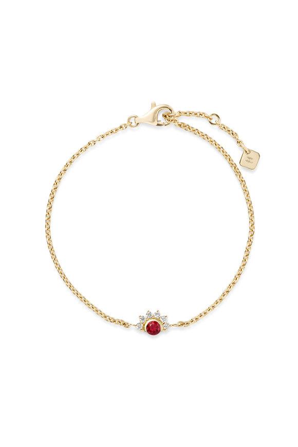 Nouvel Heritage 18K Yellow Gold Mystic Red Spinel Bracelet