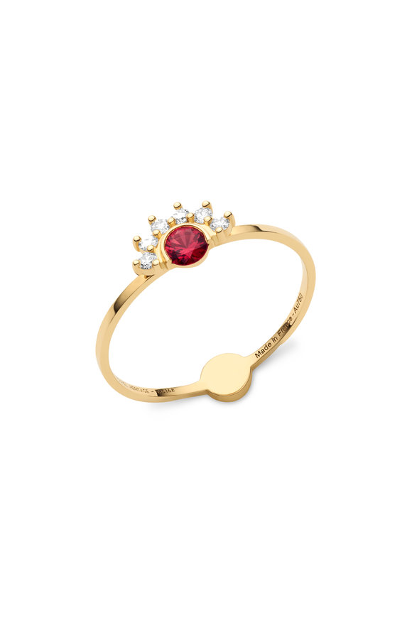 Nouvel Heritage 18K Yellow Gold Mystic Red Spinel Ring