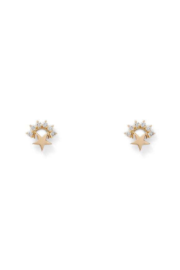 Nouvel Heritage 18K Rose Gold Mystic Star Stud Earrings