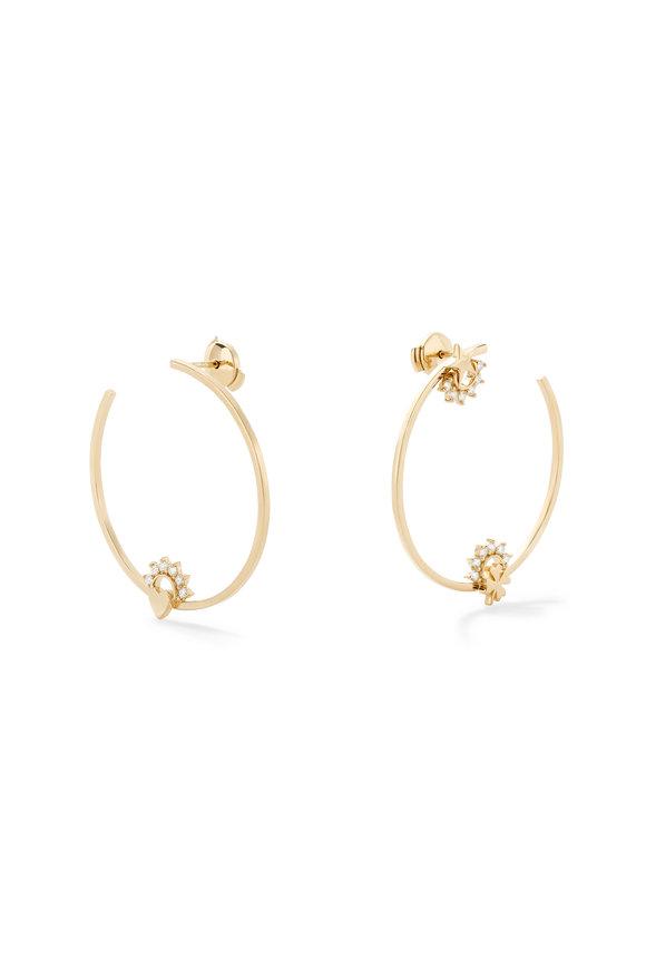 Nouvel Heritage 18K Yellow Gold Mystic Motif Hoop Earrings