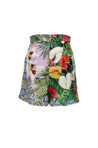 Dolce & Gabbana - Silk Shantung Multi-Floral Jungle Print Shorts