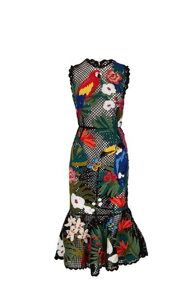Dolce & Gabbana - Black Crochet Hand-Embroidered Sleeveless Dress