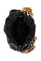 Bottega Veneta - The Chain Pouch Black Leather Shoulder Bag