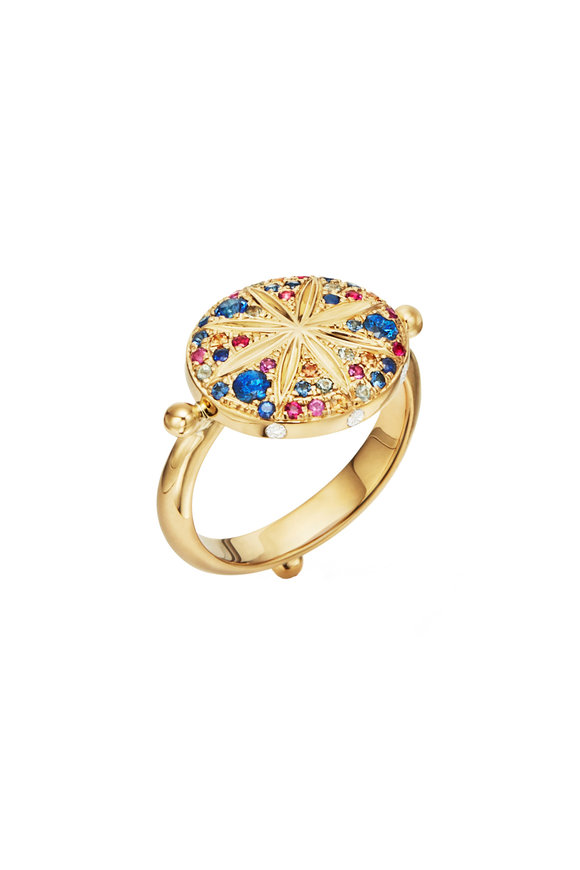 Temple St. Clair 18K Yellow Gold Sorcerer Mixed Stone Ring