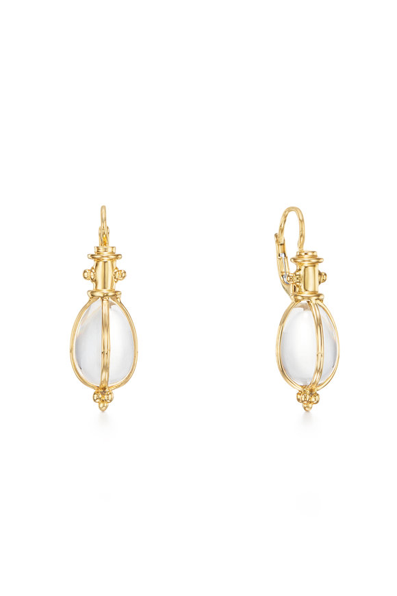 Temple St. Clair 18K Yellow Gold Crystal Earrings