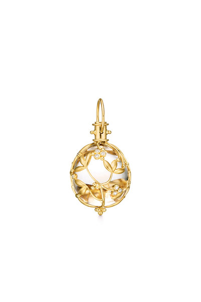 Temple St. Clair - 18K Yellow Gold Crystal & Diamond Egg Pendant