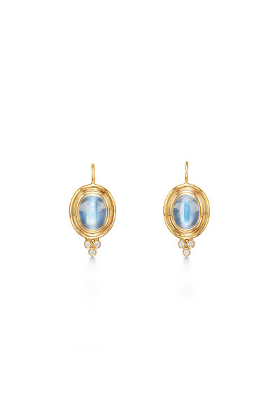 Temple St. Clair - 18K Yellow Gold Classic Moonstone Earrings