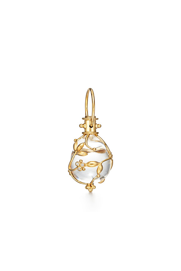 Temple St. Clair 18K Yellow Gold Crystal & Diamond Amulet