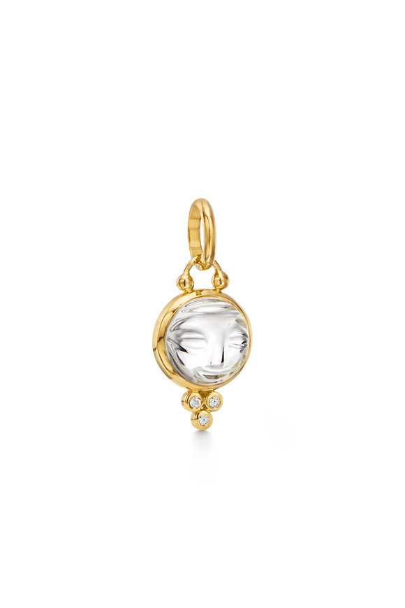Temple St. Clair Yellow Gold Baby Moonface Pendant