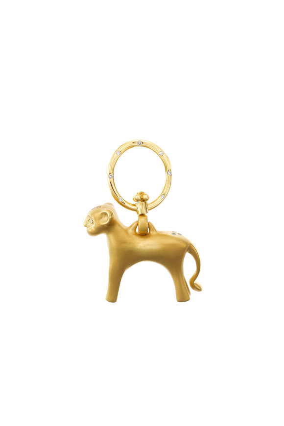 Temple St. Clair 18K Yellow Gold Standing Lion Pendant