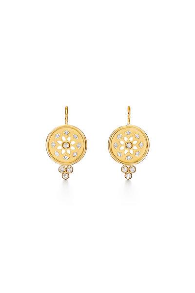 Temple St. Clair - Yellow Gold Mandala Cutout Earrings