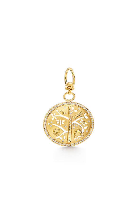 Temple St. Clair 18K Yellow Gold Small Pavé Tree Of Life Pendant