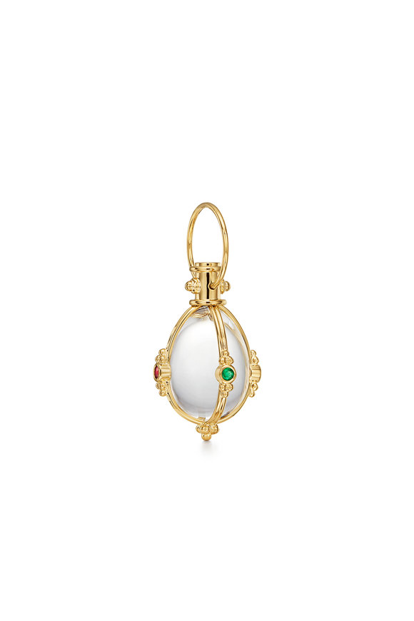 Temple St. Clair 18K Yellow Gold Crystal Amulet