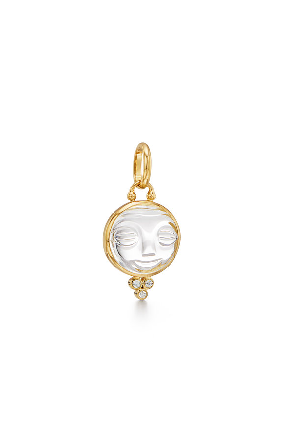 Temple St. Clair 18K Yellow Gold Moonface Pendant