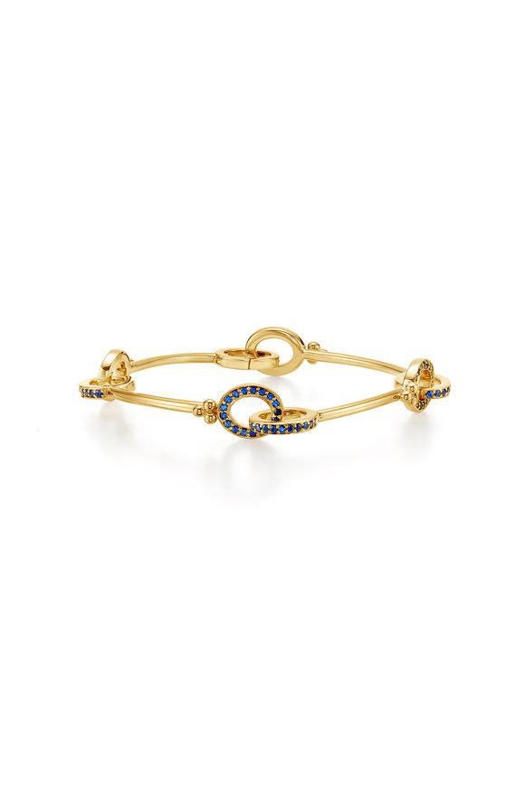 Temple St. Clair 18K Yellow Gold Orsini Sapphire Link Bracelet